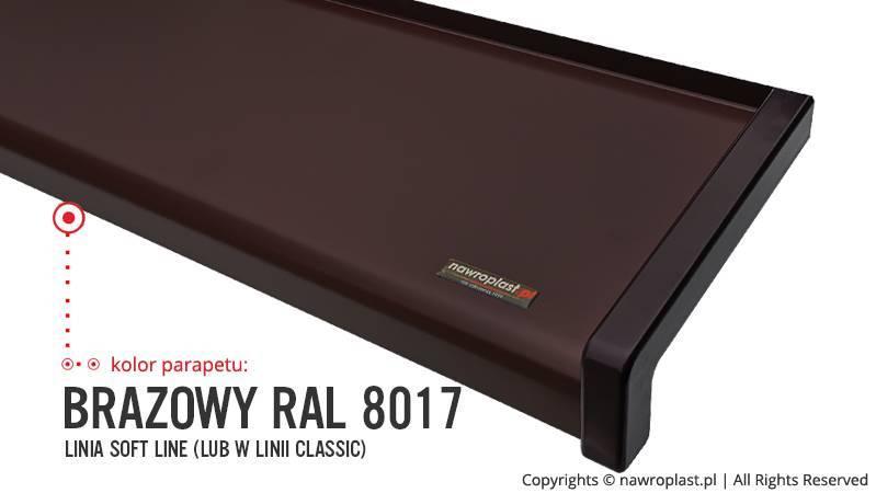 Parapet zewnętrzny RAL: kolor brąz 8017
